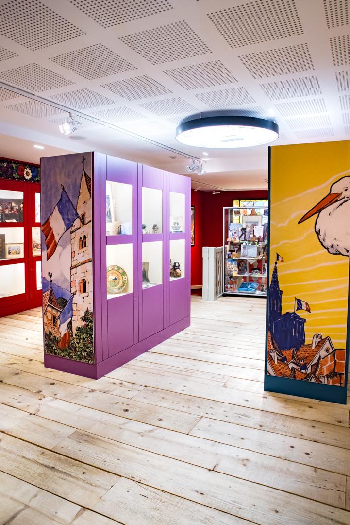 Salle d'exposition du Musée Hansi à Colmar